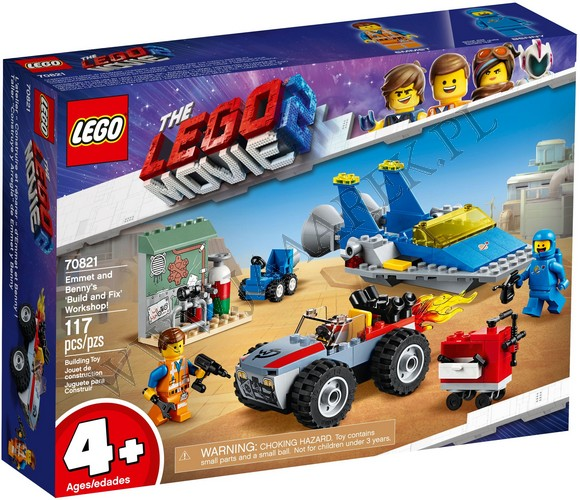 Klocki Lego 70821 Warsztat Emmeta I Benka Lego Movie 2